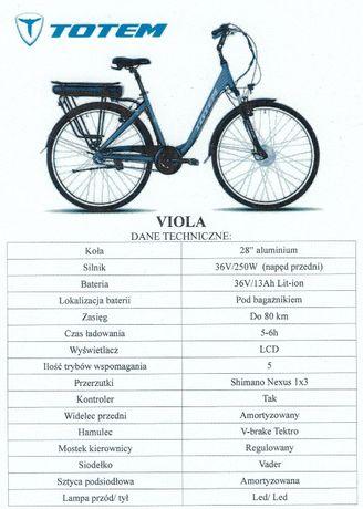 Rower elektryczny VIOLA damski, 28'', rozmiar ,,L'' nowy. Tychy