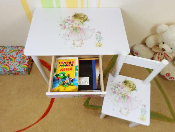 """Детский столик и стул """"Принцесса"""" стол-парта (варианты) 1-7 лет"""