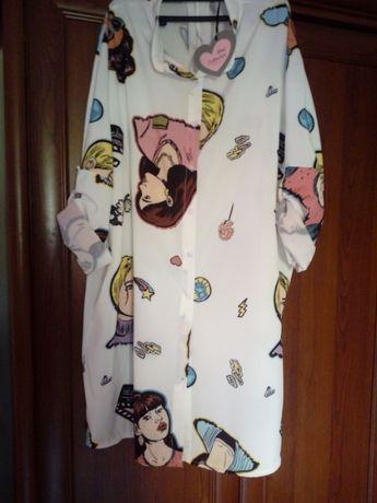 Zwiewna koszula tunika xl/xxl nowa z metką