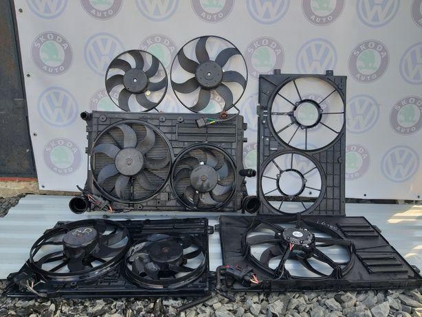 Дифузор, вентилятор VW Passat B6; B7; CC; Golf, Octavia A5; Superb 2