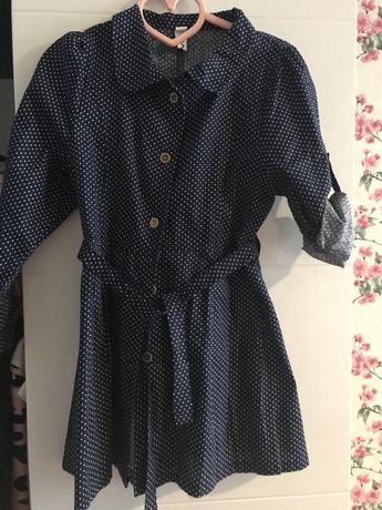 Оригинальное летнее платье доя девочки DKNY
