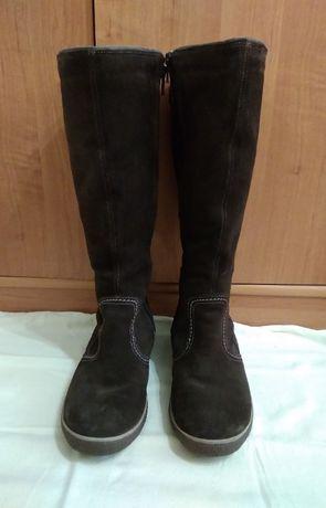 Сапоги зимние Ecco женские. Замш, шерсть. 37-38 размер, 24,5 см