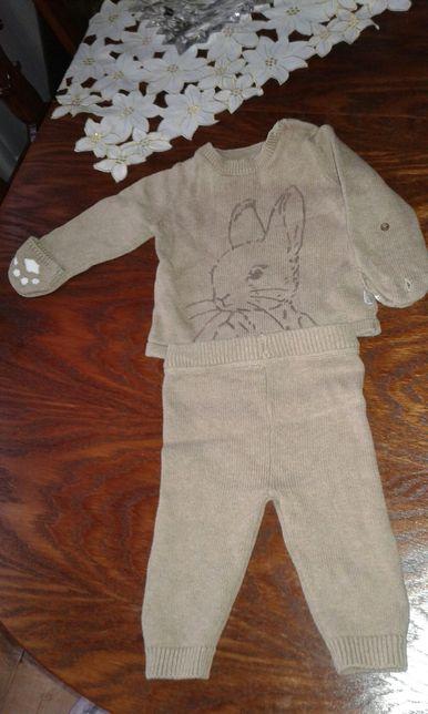 костюм вязаний теплий m&s,next,hm 3-6 м