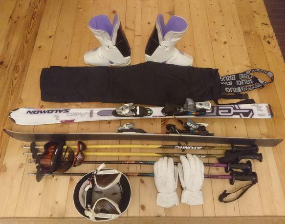 Narty Komplet narciarski