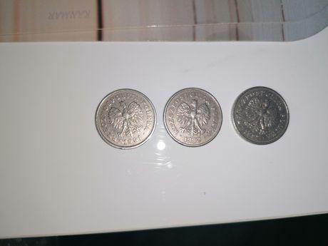 Monetę obiegową o nominale 50gr/1991r oraz z 1992r