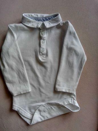 Koszulobody białe bawełniane SMYK z długim rękawem