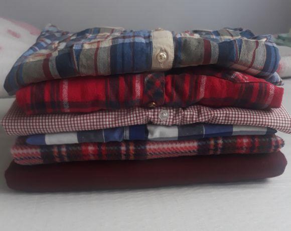Zestaw ubrań bluza 2x koszula w kratkę 4x