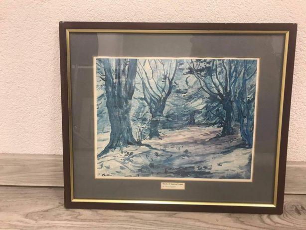 "Obraz ""Study of Epping Forest"" Jacob Epstein 44 na 37cm  /9.12"