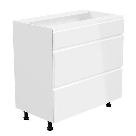 ASPEN D80S3 Szafka z szufladami dolna 80 biała
