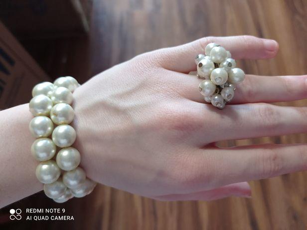 Biżuteria bronzoletki i pierścionek
