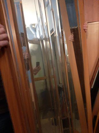 Drzwi przesuwne lustra do szafy pod zabudowę 3 sztuki