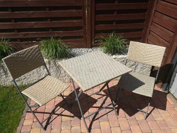 Zestaw ogrodowy rozkładany stolik + 2 krzesła