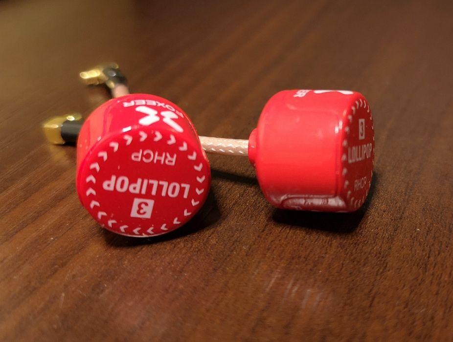 Anteny Foxeer Lollipop 5.8G kątowe MMCX Czerwone RHCP Bydgoszcz - image 1