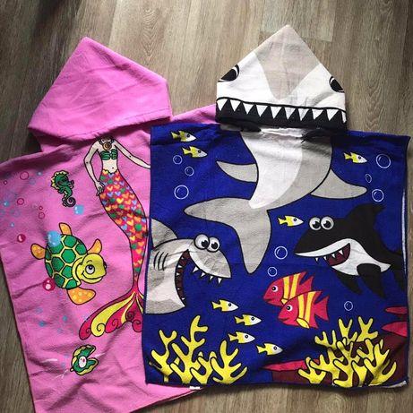 Детское полотенце - пончо, пляжное полотенце для детей.