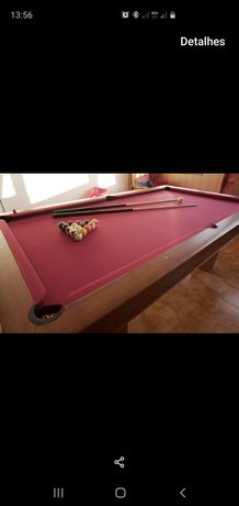 Bilhar snooker com tampo
