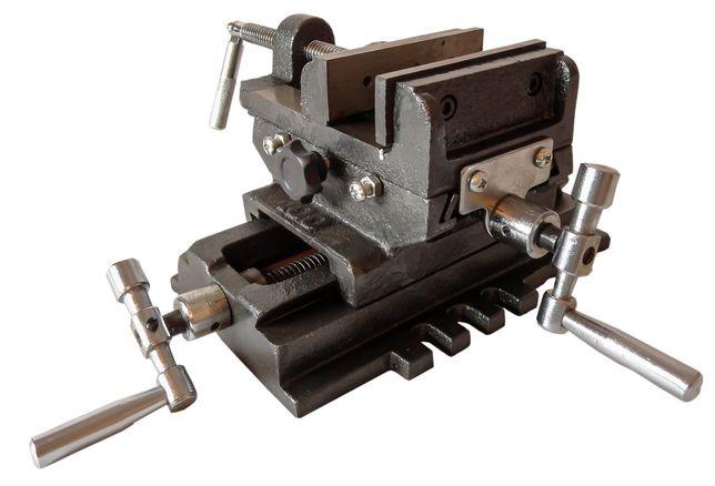 Imadło maszynowe krzyżowe dwuosiowe 100mm tokarka (IMA26)