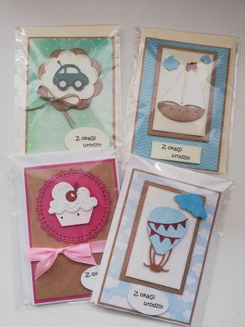 Kartki ręcznie robione na urodziny