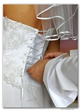 Gorset biały koronkowy suknia ślubna princessa 36-38 , 75b, 75c