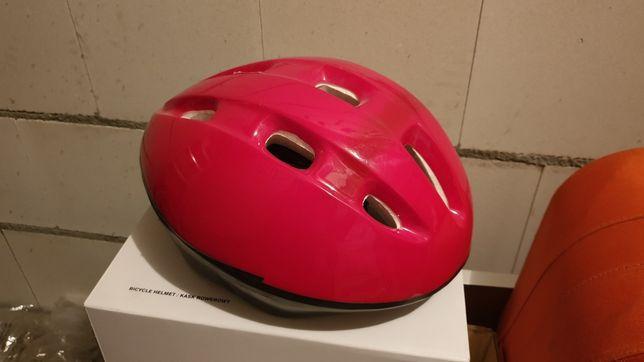 Kask rowerowy czerwony, TUV