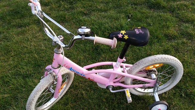 sprzedam rowerek 16cala z kółeczkami bocznymi dla dziewczynki