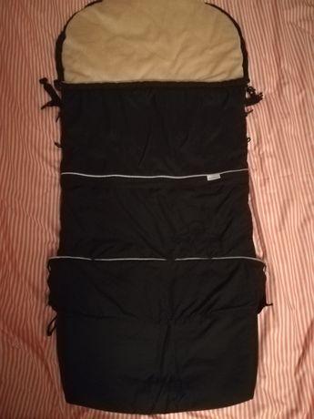 Śpiwór śpiworek 3 funkcyjny baby matex do wózka czarny beż