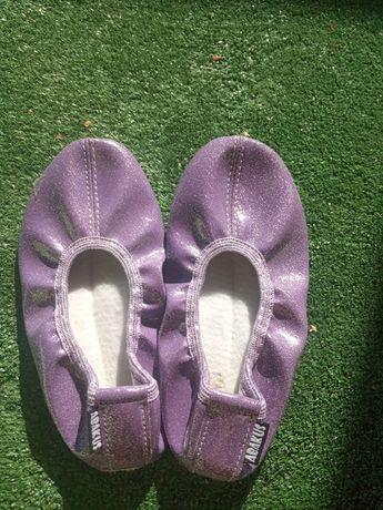 Baletki fioletowe brokat balerinki 27 28
