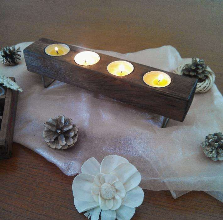 Porta velas castiçal