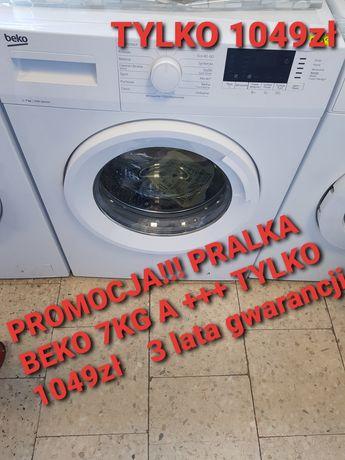 Promocja! Pralka Beko 7 kg A+++ 3 lata gwarancji Transport Nowa Dostaw