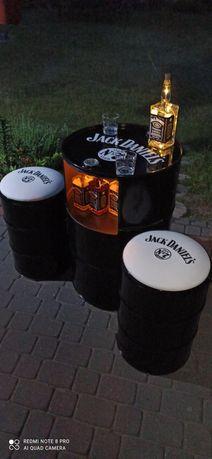 Beczka zestaw barek Jack Daniels lampka gratis