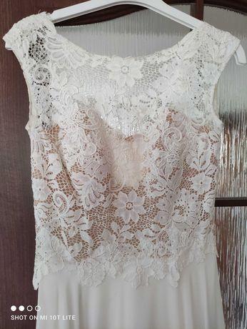 Suknia ślubna rustykalna zwiewna