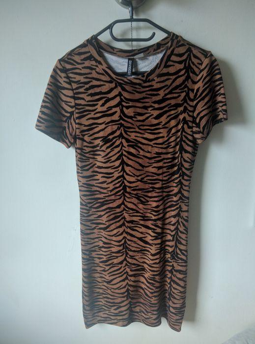Nowa, obcisła sukienka w panterkę H&M (S) Gliwice - image 1