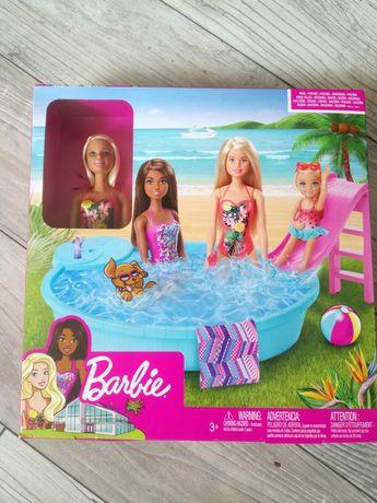 Barbie zestaw z basenem plus lalka nowy