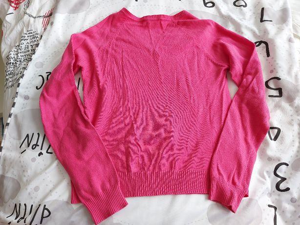 Sweter damski Marks&Spencer r 38/40 (10-12) Czarny w paski Stan BDB