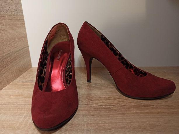 Buty czerwone szpilki 38 graceland