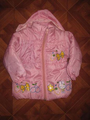 Новенька яскрава демісезонна курточка приблизно на 2 рочки