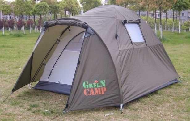 Палатка для отдыха двухместная,двухслойная Green Camp 3006