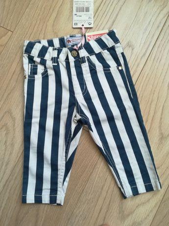 Стильные укороченные штаны в полоску, для девочки 12-18 мес.