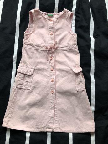 Sukienka sztruksowa 110/116 benetton