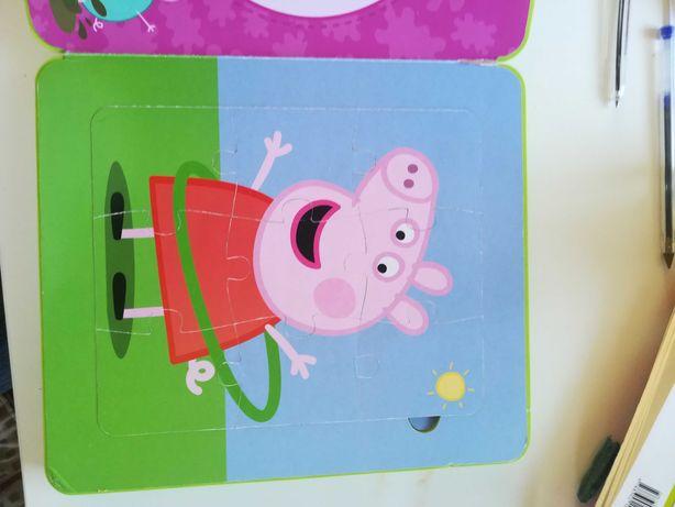 Świnka Peppa książka puzzle