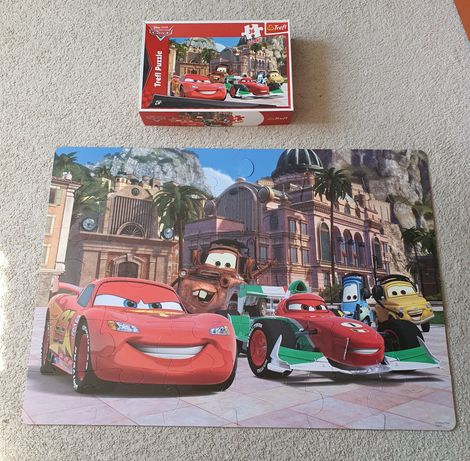 Puzzle Trefl Giant 36 sztuk od 3 lat Cars Auta Pixar