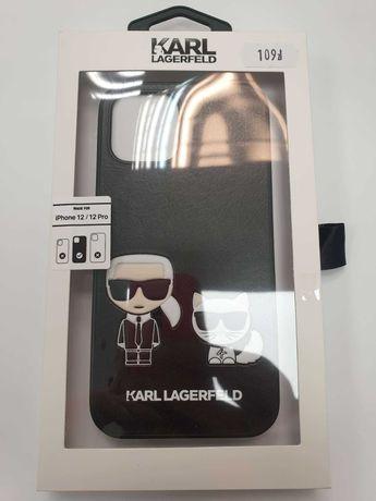 Etui KARL LAGERFELD iPhone 12 / 12 Pro KLHCP12MPCUSKCBK Ikonik Karl &