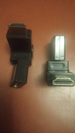 Поворотный HDMI AM - AF адаптер переходник 360град