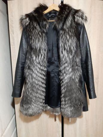 Куртка меховая чернобурка трансформер