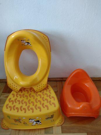 Nocnik Podest Nakładka na toaletę Zestaw do odpieluchowania stan ideal