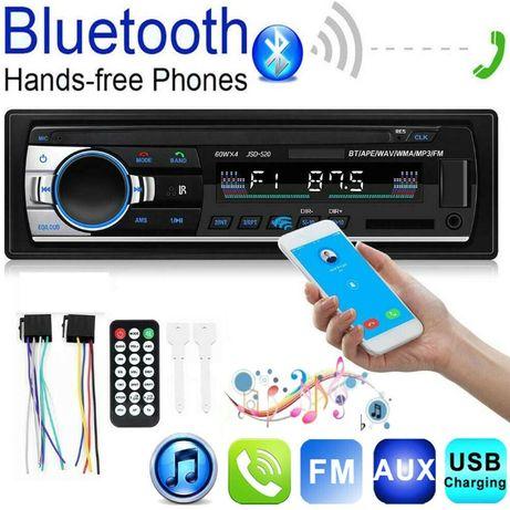 Autorádio com bluetooth, MP3, AUX, SD e USB.