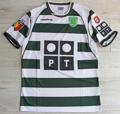 SPORTING Lizbona Retro Home 2002/03 Reebok #28 C.Ronaldo, roz. M