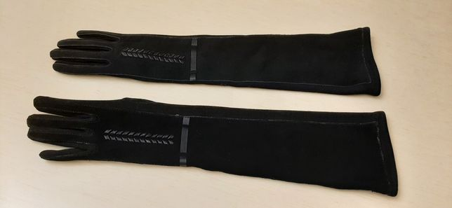 Перчатки женские удлинённые