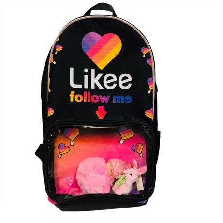 Рюкзаки для девочек Likee Лайки фоловеры - супер подарок! В наличии!