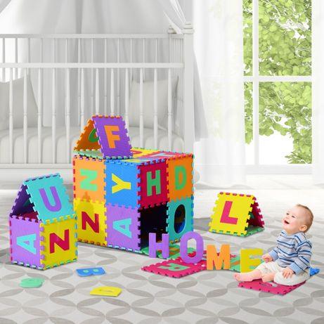 Tapete Puzzle Letras Abecedário A-Z para Crianças