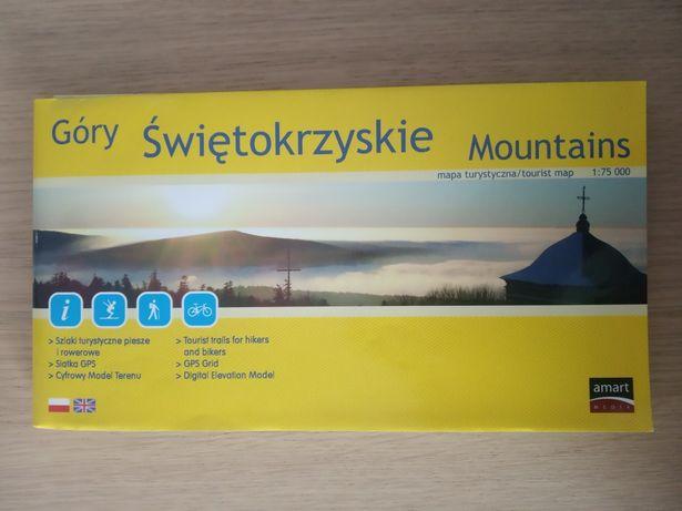 Góry świętokrzyskie mapa turystyczna laminowana